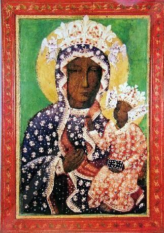 Jasnogórski Cudowny Obraz Najświętszej Maryi Panny Niepokalanie Poczętej w Sukience milenijnej (tysiaclecia) z 1966 roku
